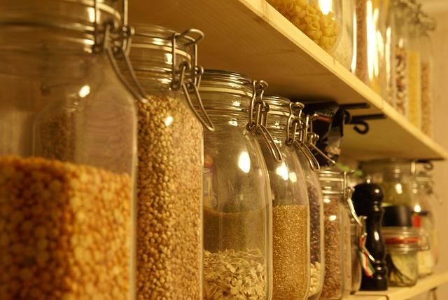 kitchen storage: properly stored grains